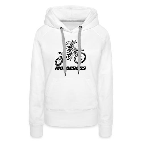 Motocross Logo Black - Women's Premium Hoodie