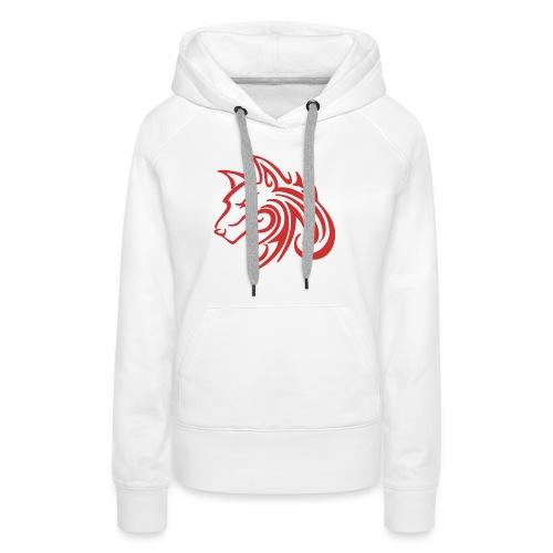 3d31c4ec40ea67a81bf38dcb3d4eeef4 wolf 1 red wolf c - Women's Premium Hoodie