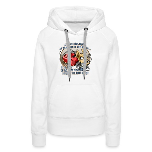 Dog in fight by RollinLow - Women's Premium Hoodie