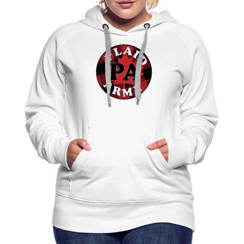 plaid army round - Women's Premium Hoodie
