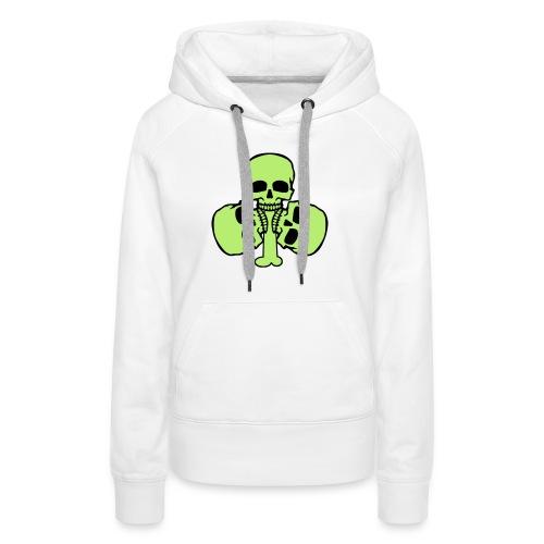Skull Shamrock w/ Teeth - Women's Premium Hoodie