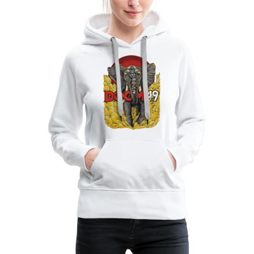 Yellow Smoke Elephant by DooM49 - Women's Premium Hoodie
