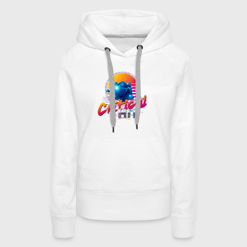 Critical Hit Dungeons Fantasy Outrun Design - Women's Premium Hoodie