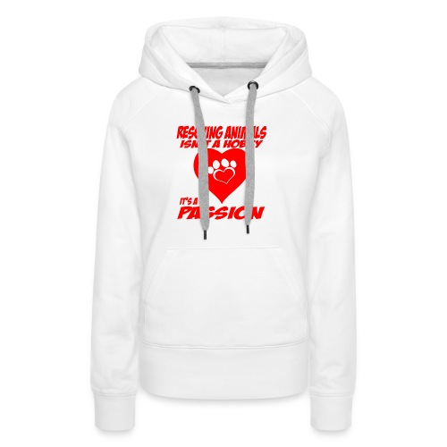 01 rescuing animals copy - Women's Premium Hoodie
