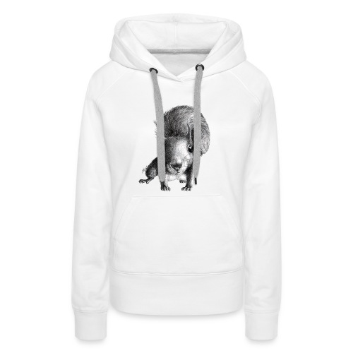 Cute Curious Squirrel - Women's Premium Hoodie