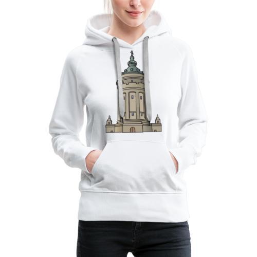 Mannheim water tower - Women's Premium Hoodie