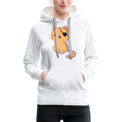 Cat with 3D glasses doing Vision Therapy! - Women's Premium Hoodie