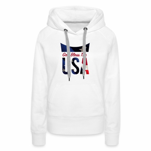 God Bless The USA Veterans T-Shirts - Women's Premium Hoodie