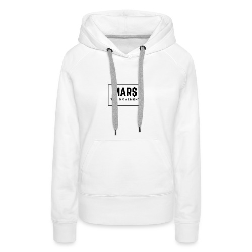 MAR$ Orginal White T-Shirt - Women's Premium Hoodie