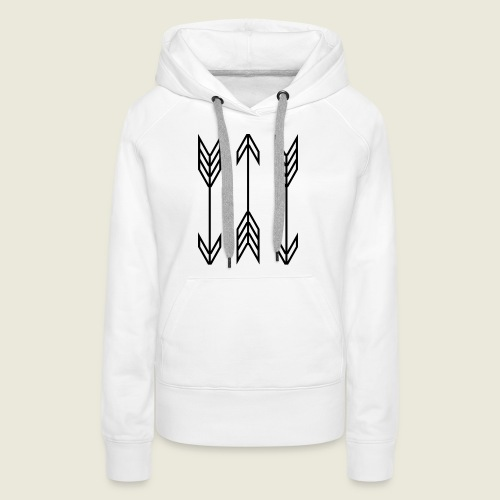 arrow symbols - Women's Premium Hoodie