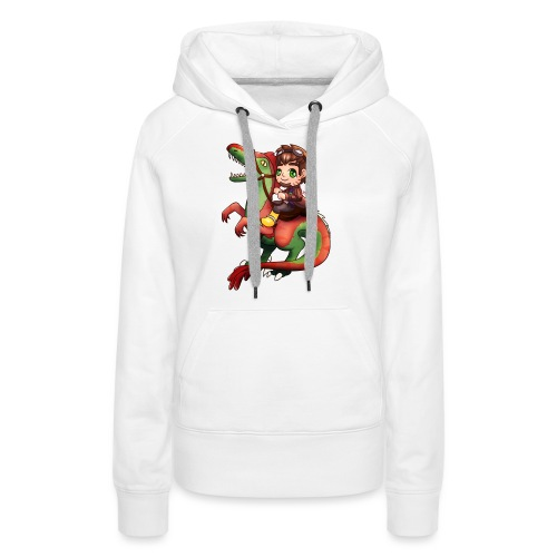 Poet Raptor Riding - Women's Premium Hoodie