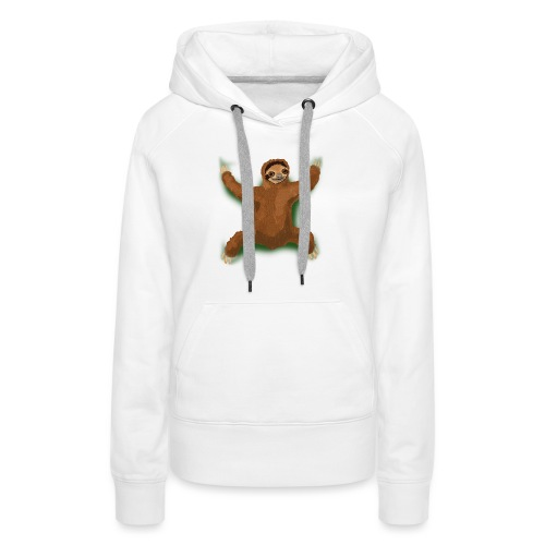 Sloth Love Hug - Green - Women's Premium Hoodie