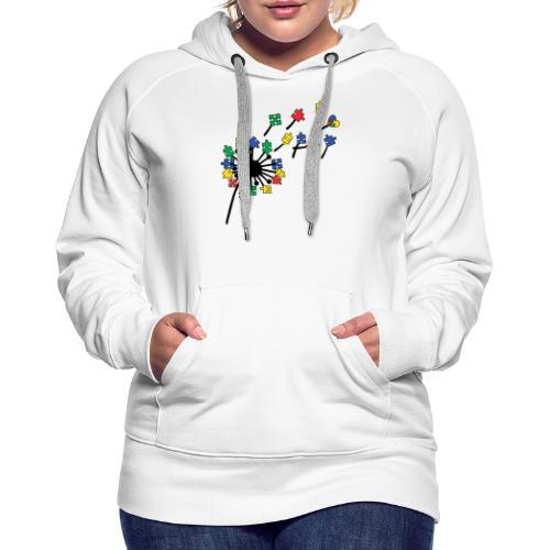 Autism Awareness Dandelion - Women's Premium Hoodie