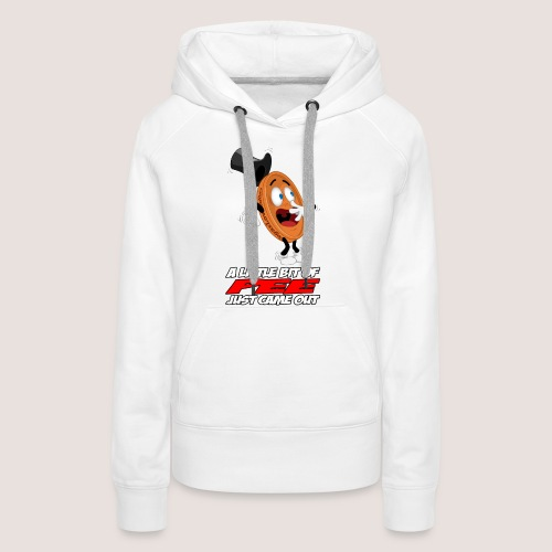 THE SCARED PENNY WITH TEXT - Women's Premium Hoodie
