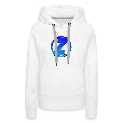 Blue Ziffy logo Shirt - Women's Premium Hoodie