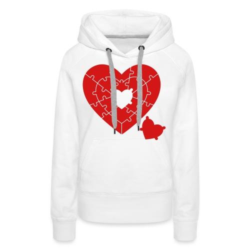 Heart Puzzle - Women's Premium Hoodie