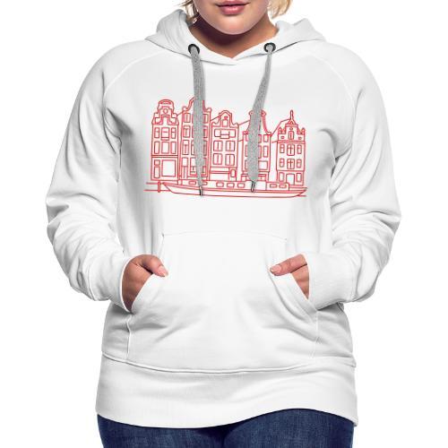 Amsterdam Canal houses - Women's Premium Hoodie