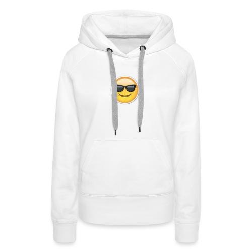 sunglasses emojicon mug & phone case - Women's Premium Hoodie