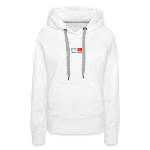 small - like, comment, subscribe - Women's Premium Hoodie