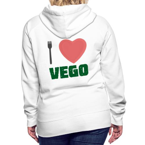 I love Vego - Clothes for vegetarians - Women's Premium Hoodie