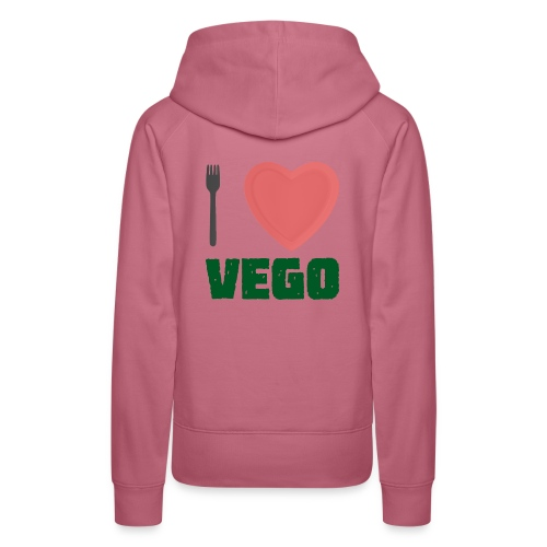 I love Vego - Clothes for vegetarians - Women's Premium Hoodie