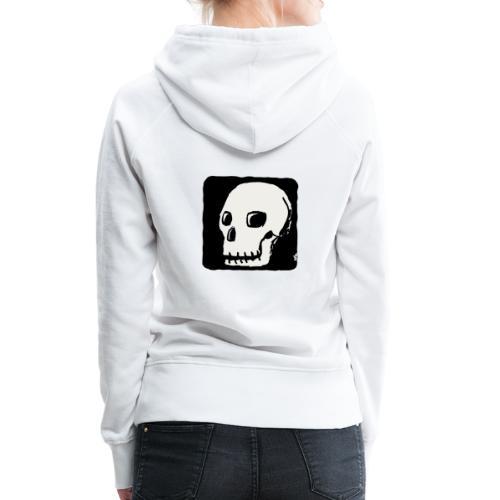 Smiling skull - Women's Premium Hoodie