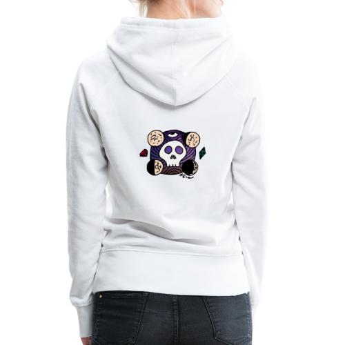Moon Skull from Outer Space - Women's Premium Hoodie