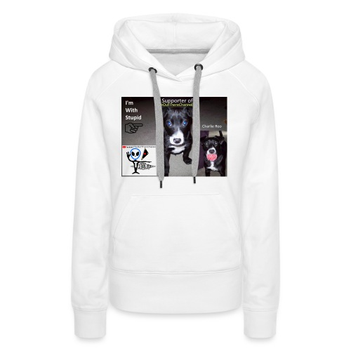 OTchanCharlieRoo with Crew Back Logo - Women's Premium Hoodie
