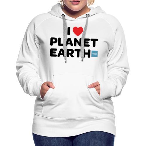I Heart Planet Earth - Women's Premium Hoodie