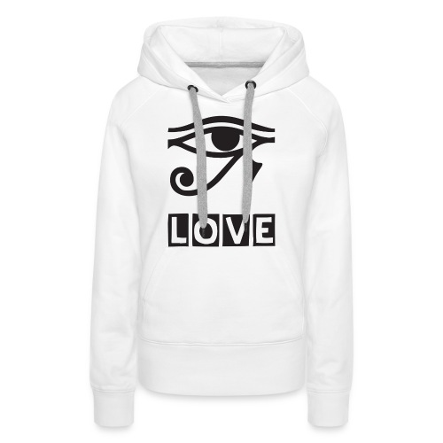 EYE LOVE DSGN TRNSP - Women's Premium Hoodie