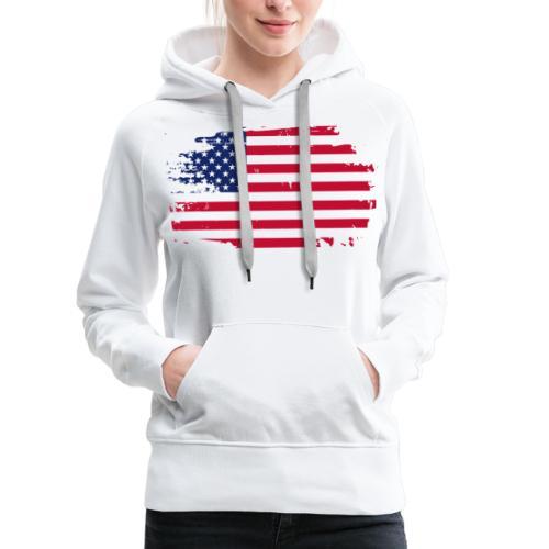 usa america american flag - Women's Premium Hoodie