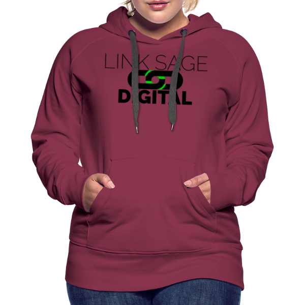 Link Sage Digital Logo with Text - Women's Premium Hoodie
