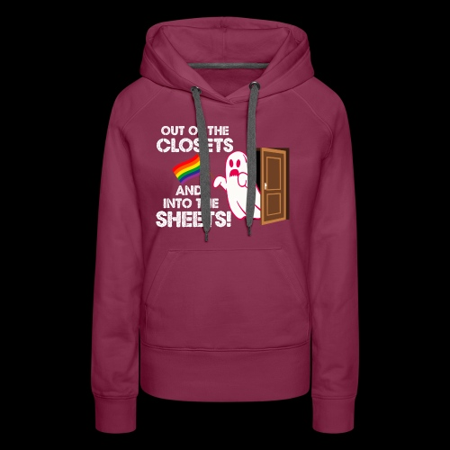Out of the Closets Pride Ghost - Women's Premium Hoodie
