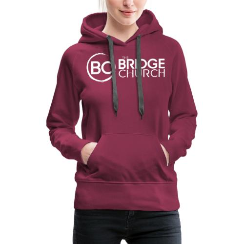 Finalized Bridge Church Logo White Sideways - Women's Premium Hoodie