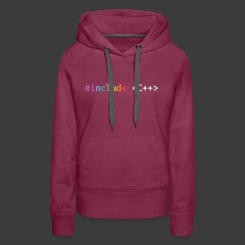 Rainbow Include C++ - Women's Premium Hoodie