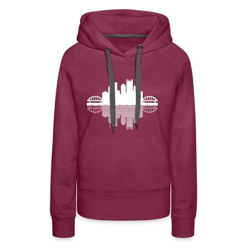 Pittsburgh Skyline Reflection - Women's Premium Hoodie