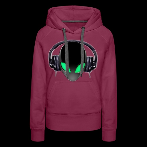 Alien Music Lover DJ (Simplified Fit All Design) - Women's Premium Hoodie