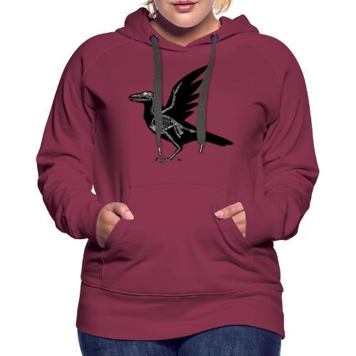 Skeleton Raven - Women's Premium Hoodie