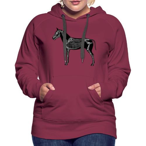 Skeleton Horse - Women's Premium Hoodie