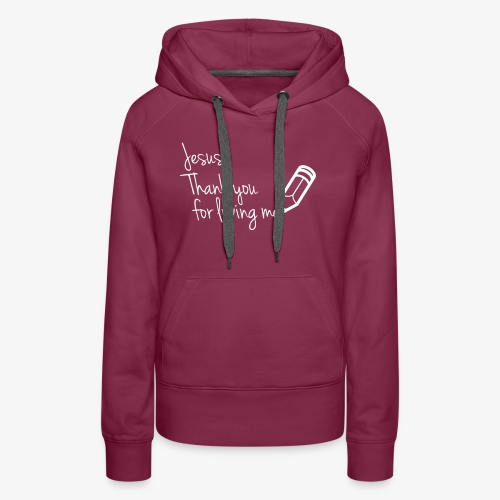 thank you Jesus - Women's Premium Hoodie