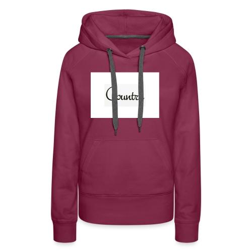 country vouce hoodie - Women's Premium Hoodie