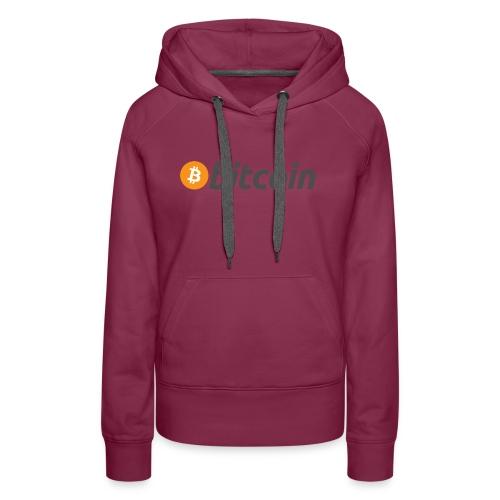 Bitcoin Logo Wear - Women's Premium Hoodie