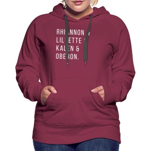 All The Characters - Women's Premium Hoodie