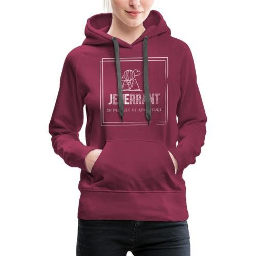 White JenErrant Logo-No Background! - Women's Premium Hoodie