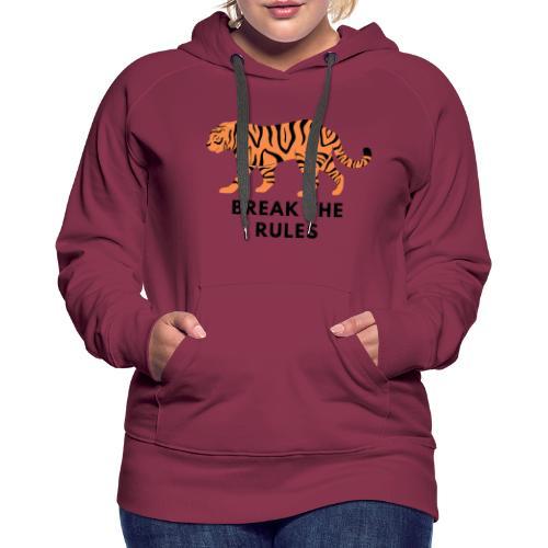 Tiger Print Unisex T-shirts and Hoodies - Women's Premium Hoodie