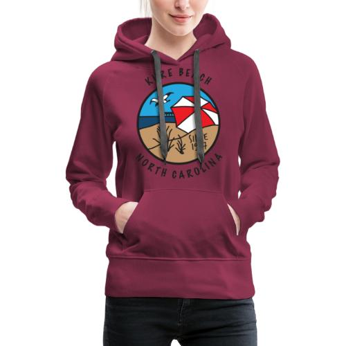 Kure Beach Day-Black Lettering-Front Only - Women's Premium Hoodie