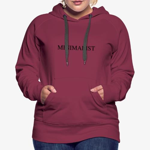 Minimalist Simple Desing - Women's Premium Hoodie