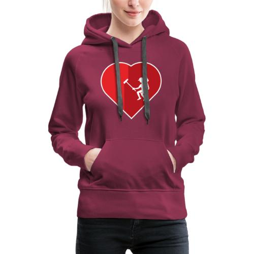 Heart cleaning by a professional window cleaner - Women's Premium Hoodie