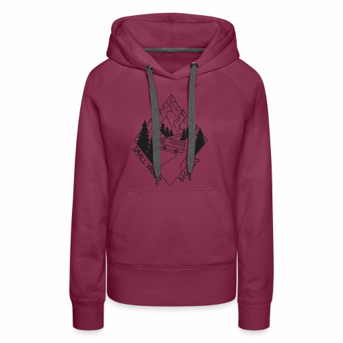SWBB Black and White Mountain Road - Women's Premium Hoodie