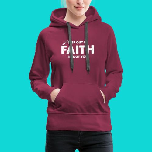 Step Out In Faith - Women's Premium Hoodie